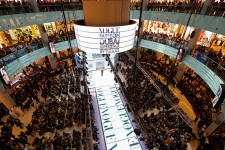 DUBAI, UNITED ARAB EMIRATES - OCTOBER 30:  A general view of the runway during the Vogue Fashion Dubai Experience on October 30, 2014 in Dubai, United Arab Emirates.  (Photo by Tristan Fewings/Getty Images for Vogue & The Dubai Mall)