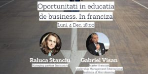 Webinar Gratuit 4 Decembrie ora 18 – Oportunitati in Educatia de business