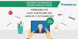 Webinar Gratuit – Afacerile in Franciza – Oportunitati si Mituri