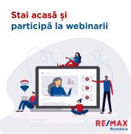 Stai acasa si participa la webinar-ul GRATUIT –  RE/MAX